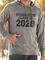 Gray Printed Hoodie Sports Cotton Men's Fashion Print Sweatshirt