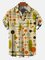 Men's Shirt Collar Abstract Printed Shirts & Tops