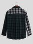 Men's Basic Plaid Printed Pockets Shirts
