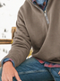 Stand Collar Casual Sweatshirt