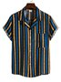Men's Linen Printed Striped Shirts